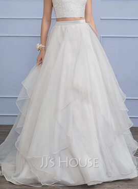 Separates Sweep Train Organza Wedding Skirt (002110494)