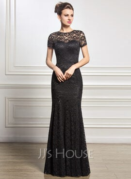Trumpet/Mermaid Scoop Neck Floor-Length Lace Mother of the Bride Dress (008056831)