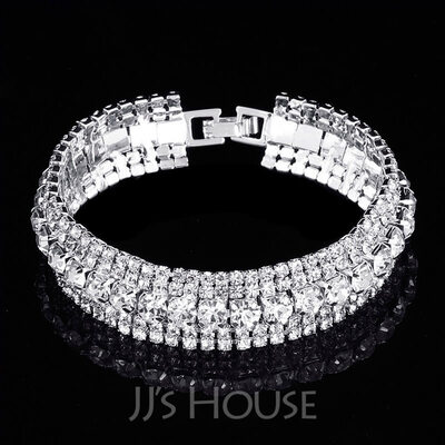 Ladies' Elegant Alloy/Rhinestones Bracelets