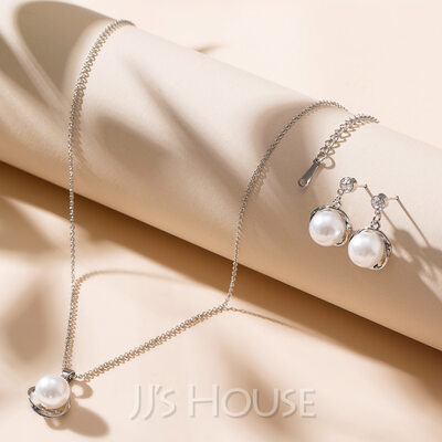 Elegant Alloy/Pearl/Crystal Ladies' Jewelry Sets