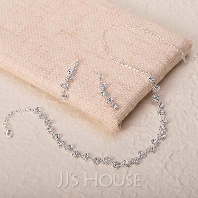 Flower Shaped Alloy/Rhinestones Ladies' Jewelry Sets