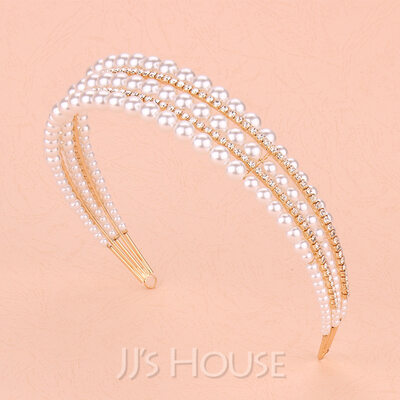 Beautiful Rhinestone/Alloy/Pearls Tiaras