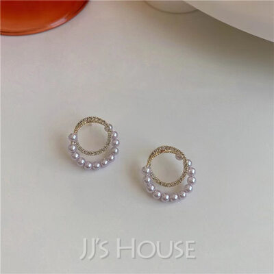 Classic Alloy/Rhinestones/Imitation Pearls Earrings
