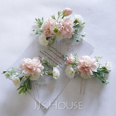 Beautiful Silk Flower Tiaras (Set of 3)