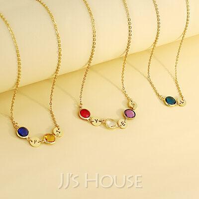 Custom Name Birthstone Name Necklace Birthstone Necklace -