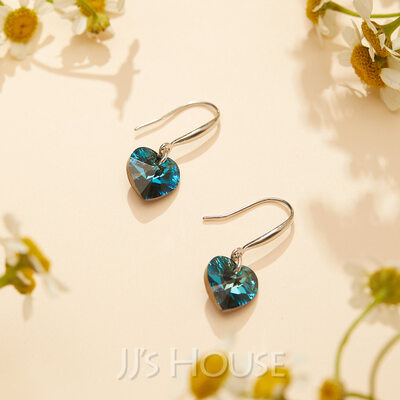 Heart of the Ocean 925 Sterling Silver Earrings