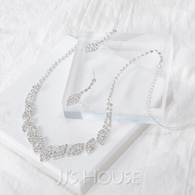 Fashionable Alloy/Rhinestones Ladies' Jewelry Sets