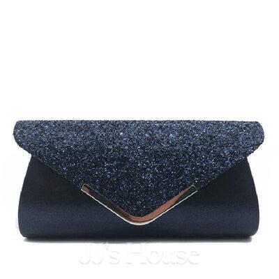 Elegant Glitrende Glitter/Polyester Koblinger