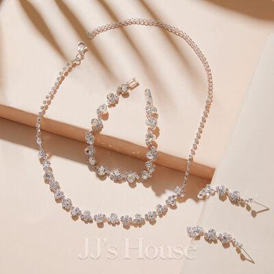 Ladies' Elegant Alloy/Rhinestones Jewelry Sets
