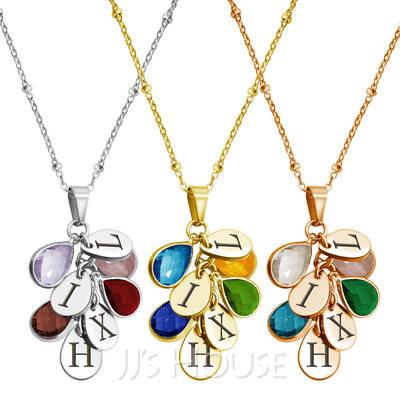 Custom Name Necklace Birthstone Necklace -
