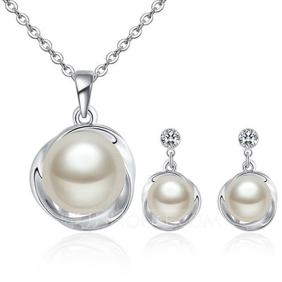 Elegant Alloy/Pearl/Crystal Ladies' Jewelry Sets