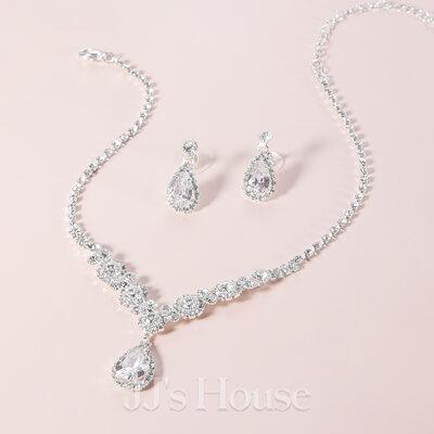 Elegant Alloy/Rhinestones With Rhinestone Ladies' Jewelry Sets