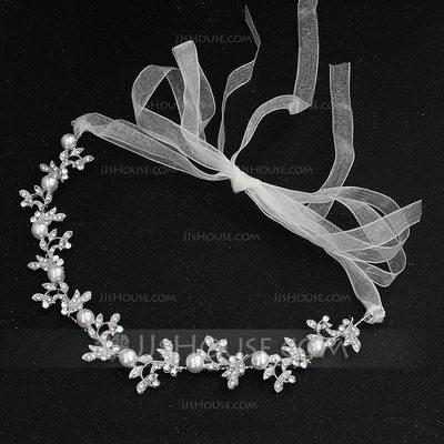 Mote Crystal/Imitert Perle Pannebånd med Venetianske Perle/Crystal (Selges i ett stykke)