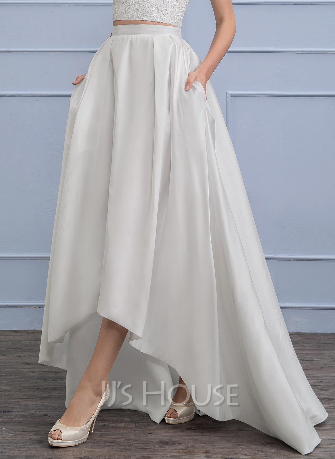 Separates Asymmetrical Taffeta Wedding Skirt