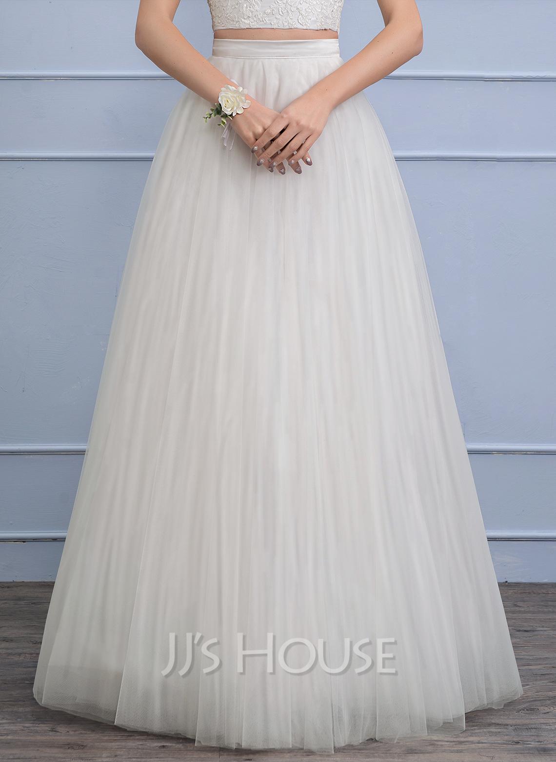Separates Floor-Length Tulle Wedding Skirt