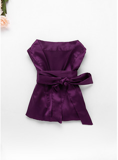 purple floral robes for bridesmaids