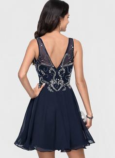backless lace dress short