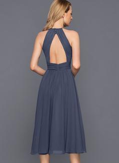 black chiffon maxi sleeveless dress