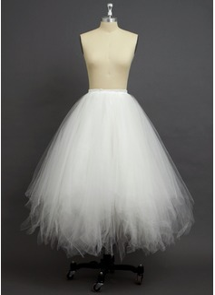 Women Tulle Netting/Polyester Floor-length 4 Tiers Petticoats
