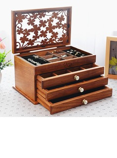 Bride Gifts - Vintage Wooden Jewelry Box