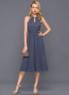 black chiffon one shoulder dress