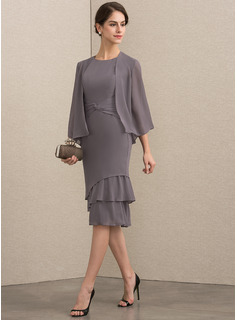 wrap evening dress with sleeves