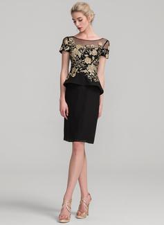 black and gold chiffon dress
