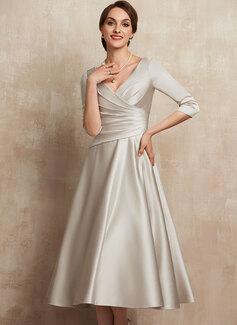 navy wrap evening dress