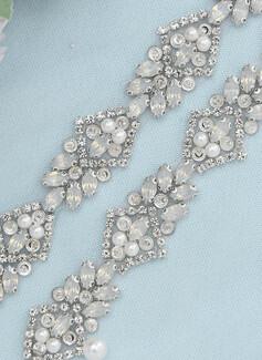 Polyester Bånd med Rhinestones/Imitert Perle