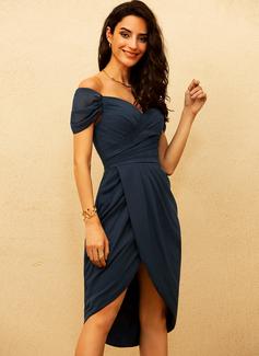 chiffon ruched waist dress