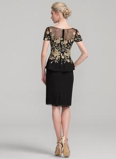 black and fuchsia long dress