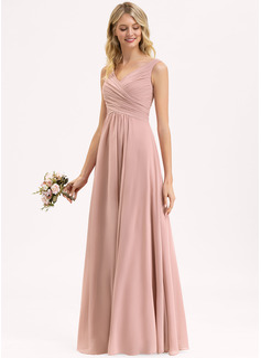 blush maxi bridesmaid dress