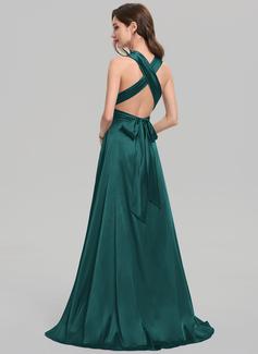 strapless tea length dress