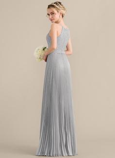 long red chiffon prom dress