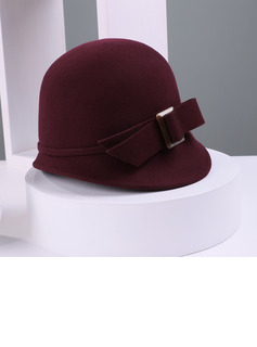 Ladies' Beautiful Wool With Bowknot Bowler/Cloche Hats