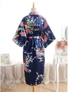 satin floral robes for bridesmaids