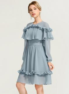 chiffon summer dress white