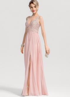sleek long black prom dress