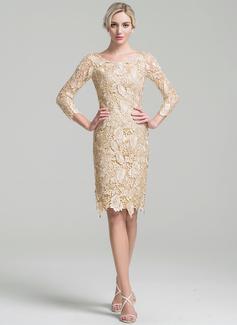 long sleeve silver evening dress