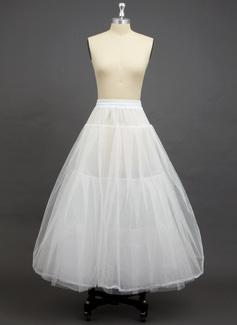 Women Tulle Netting/Polyester Floor-length 3 Tiers Petticoats
