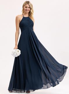 blush flowy bridesmaid dresses