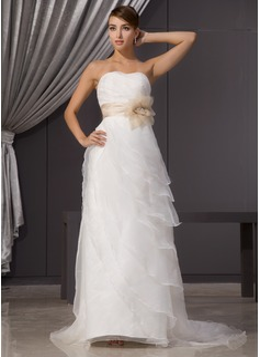 fishtail wedding dress with belt