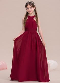 blue chiffon strapless dress
