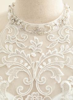 simple sleek wedding dress