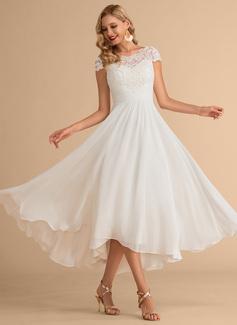 simple not white wedding dresses