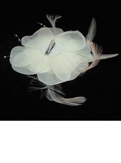 Ladies' Glamourous Feather/Imitation Pearls/Chiffon Fascinators/Tea Party Hats