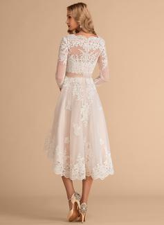 simple slimming wedding dresses
