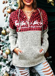 Lange ermer Regelmessig Christmas Dyr Ut Rutete lommer Jerseykjorte
