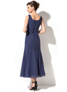 vintage tea length floral dress