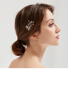 Ladies Beautiful Rhinestone/Alloy/Imitation Pearls Hairpins (Sold in single piece)